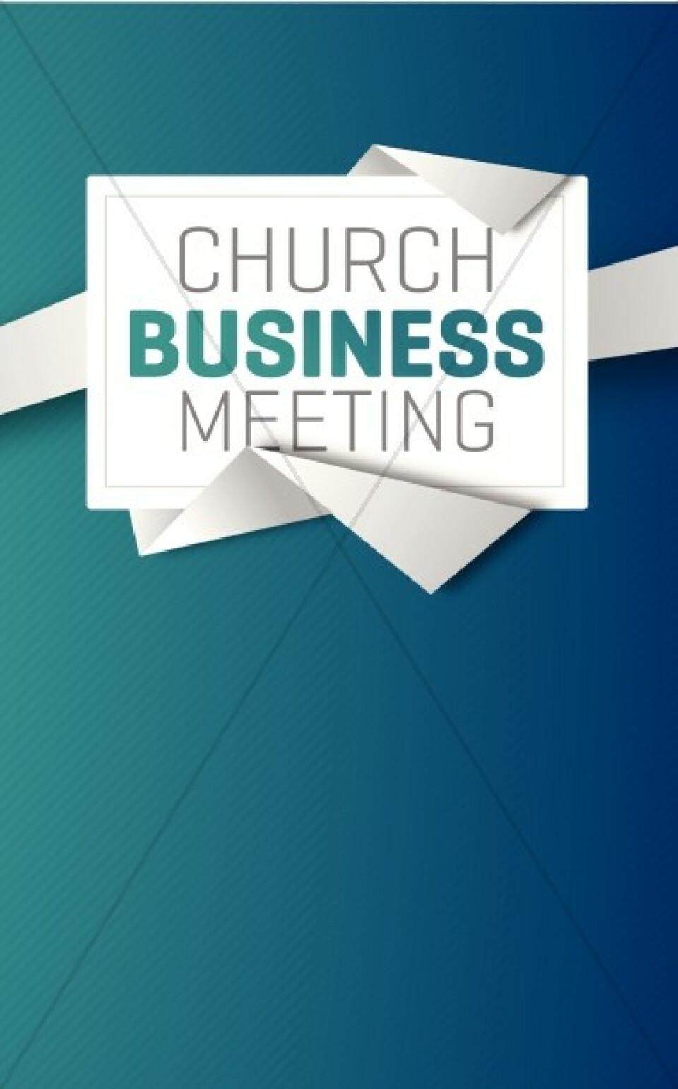Sunday October 27, 2019 ~Next Congregational Business Meeting